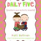 I HEART The Daily Five! :) This free download is full of Daily Five fun and includes:    ~ 1 (8 1/2 x 11) poster for each of the following: Read to...