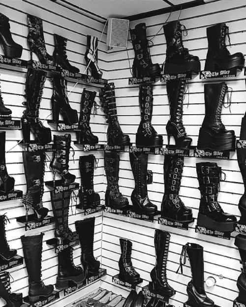 """skeletalroses: """" What I wish I saw when I walk into shoe stores. """""""