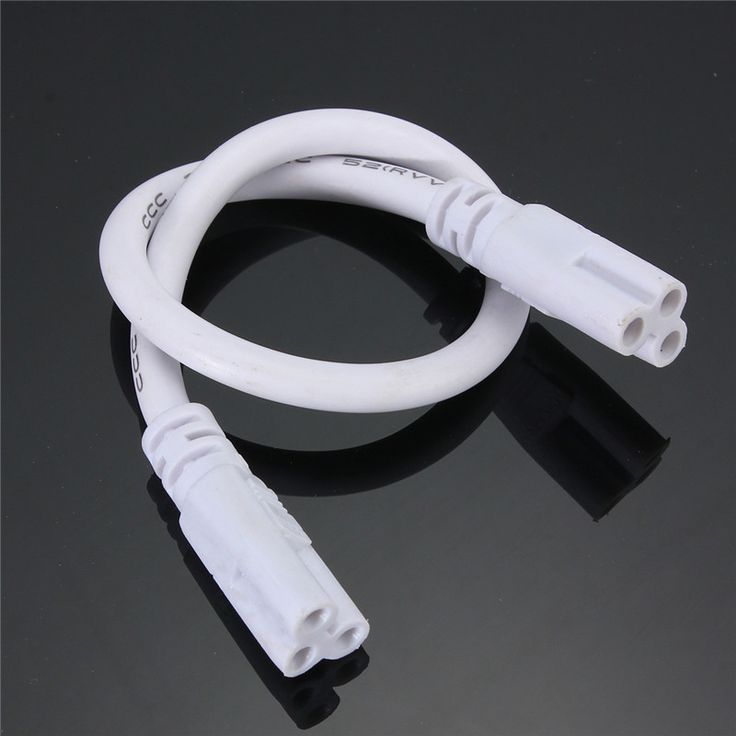 Hot Sale T5 T8 Tube Connector Cable Wire Cord 28cm Double End Cable Wire For Integrated Led Fluorescent Light Lamp 85-265V