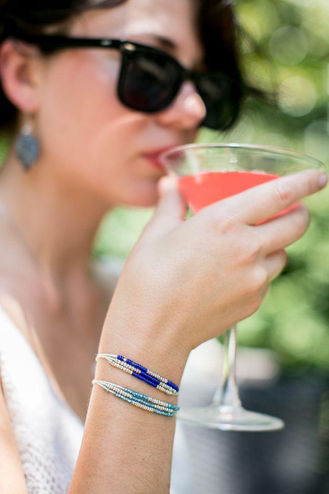 DIY Seed Bead Bracelet | http://hellonatural.co/diy-jewelry-seed-bead-bracelet/