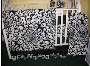 Goth Garish And Ghoulish Nurseries Baby Crib Bedding