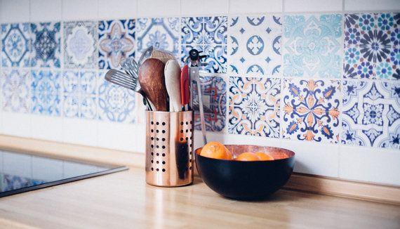 Portuguese Tiles - Azulejos - Tile Decals - Tile Stickers - Kitchen Splash Back…