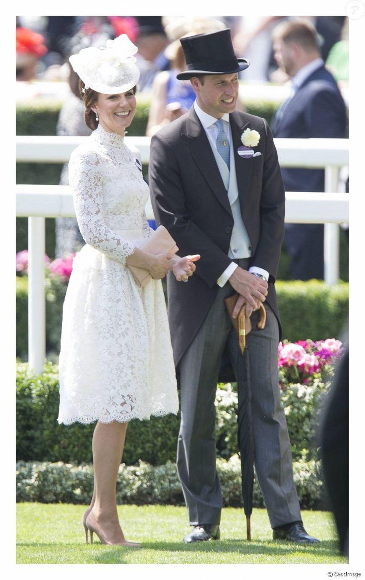 La duchesse Catherine de Cambridge et le prince William au Royal Ascot le 20 juin 2017.