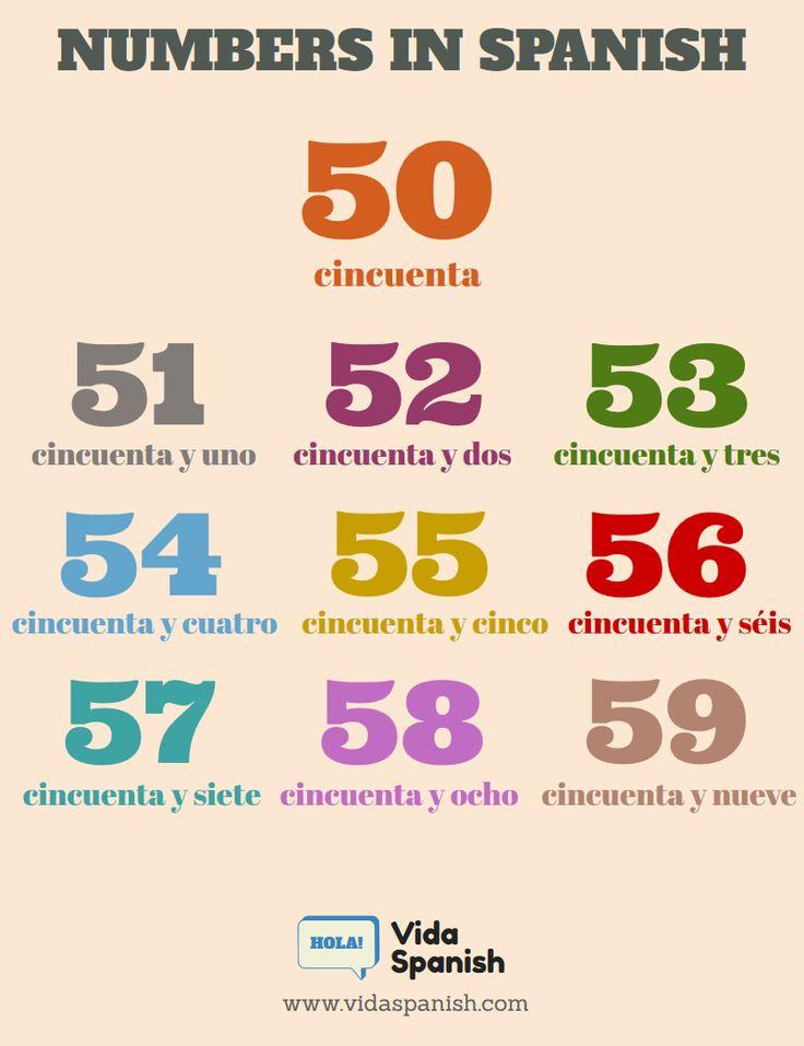 Resultado de imagen de numeros del 50 al 59