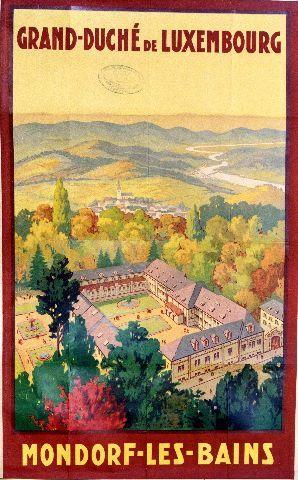 Mondorf les Bains - circa 1935 Luxembourg vintage poster