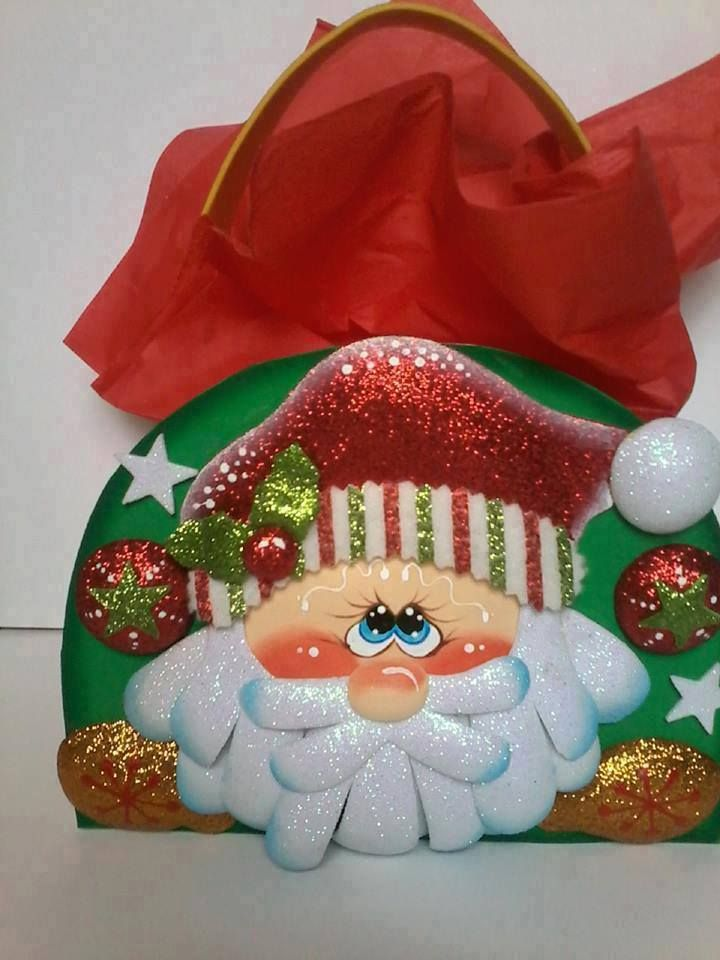 Moldes para manualidades en Foamy - MOLDES GRATIS para NAVIDAD (subidos por nuestros usuarios) - molde: Sorpresa Papá Noel