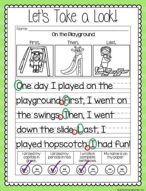 teach a 1st grader to write a story