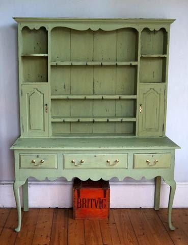 Antique Vintage Kitchen Dresser Painted In Miss Mustard Seed Milk Paint Luckett S Green By Emilyrosev On