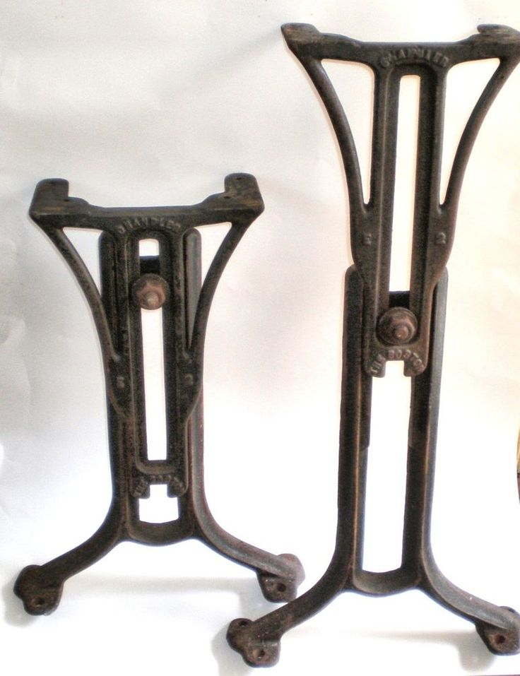 Vintage 1897 Patent Cast Iron Industrial CHANDLER ADJUSTABLE TABLE ...
