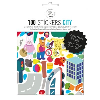 Stickers repositionnables - City