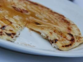 Sfakianopita - pita filled with ricotta, drizled with thyme honey. From Crete, Greece