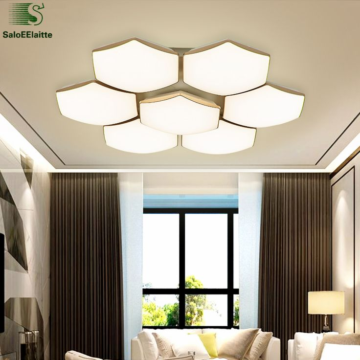 Modern Honeycomb Metal Dimmable Led Ceiling Light Lustre Acrylic Living Room Lamp Bedroom