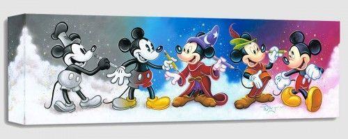 "Disney Fine Art - ""Mickey's Creative Journey"" Size: 8 x 24 | Giclée on Canvas"
