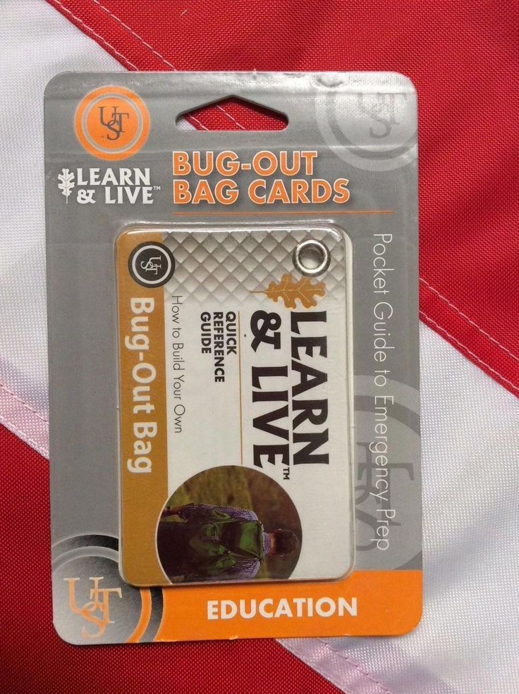 Bug out bag learn&live cards survival gear emergency disaster tactical UST fun #survivalgearbugoutbag