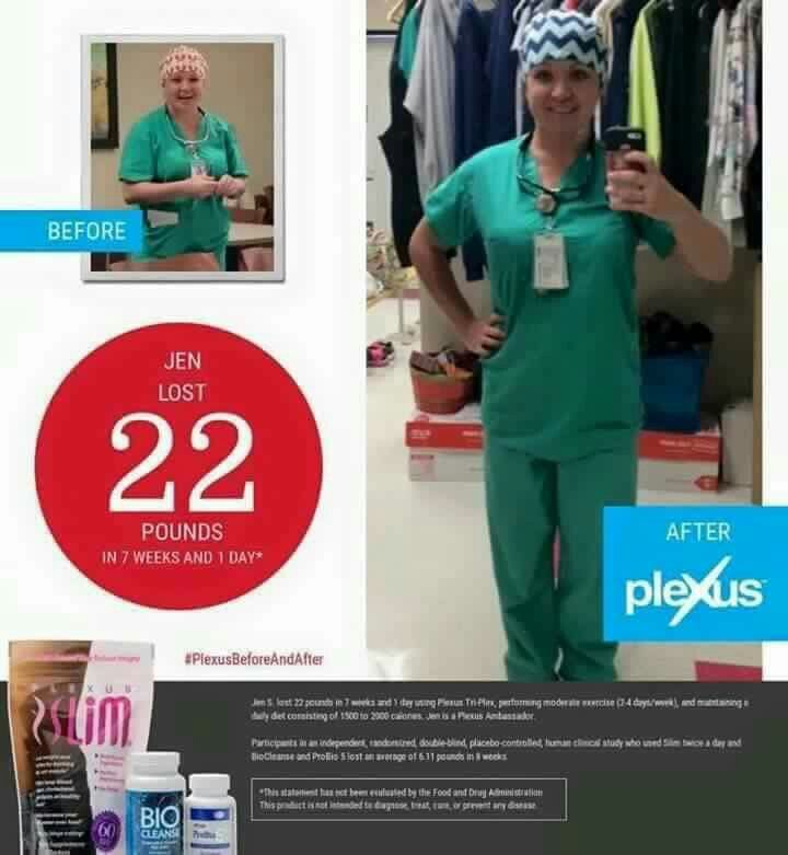 """I don't think Jen Shelter is playing dress up in these scrubs...even medical professionals know Plexus is a good thing!   Jen says, """"I lost even more weight over the last year.  My total is 37 pounds!  I did lose the first 22 really fast! Anyone can do this, you just have to TRY.  Wow, life motto, right? This is legit, and our clinical studies prove it."""" #clinicalstudies #triplex #plexusbeforeandafter #weightloss"""