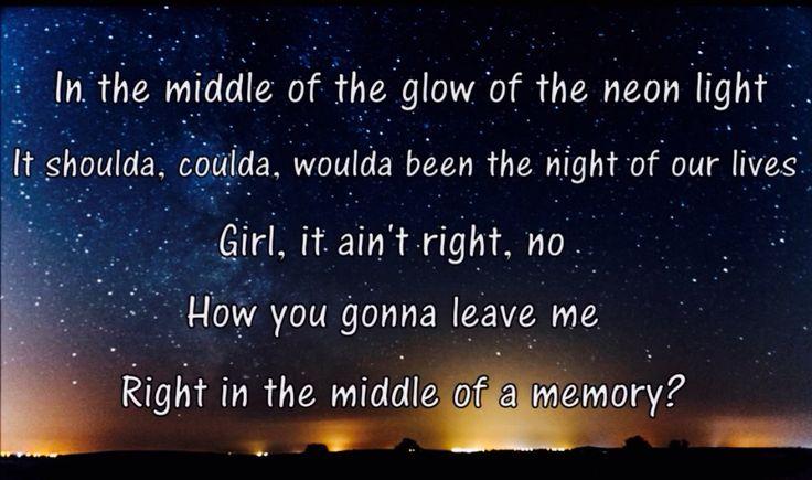 blake shelton meet me in the middle lyrics