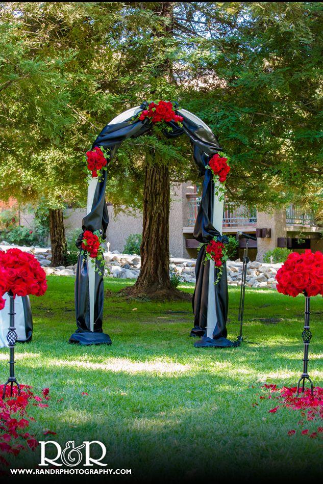Red & Black Wedding arch