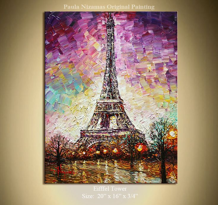 1000+ ideas about Eiffel Tower Painting on Pinterest ...  Eiffel Tower Painting Landscape