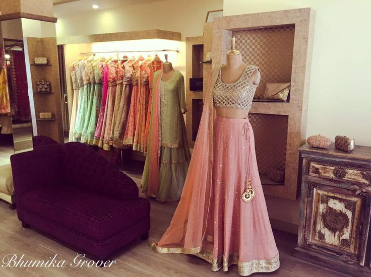 A beautiful pale pink lehenga perfect for your best friends wedding by Bhumika Grover #Frugal2Fab