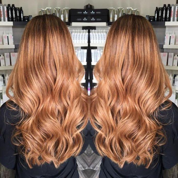 Braune haare blond farben orange
