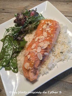 Les plats cuisinés de Esther B: Filets de saumon, sauce à l'orange