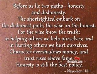 honesty vs lying
