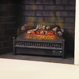 Comfort Smart 23-in Electric Fireplace Insert & Log Set Heater - ELCG240