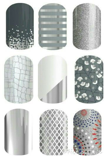 Silver gray Jamberry Nail wraps. Al these can be seen at https://becscolourfuljams.jamberry.com/au/en/