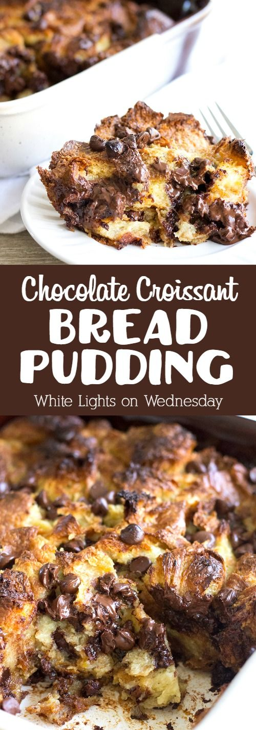 Chocolate Croissant Bread Pudding is a rich and decadent dessert that everyone loves and it's so easy to make!