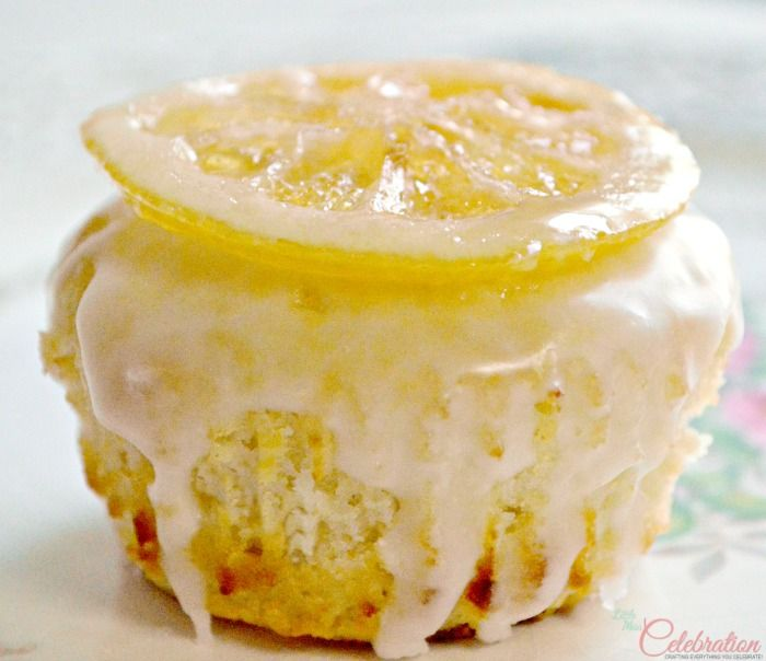 Glazed Lemon Muffins with Candied Lemon Slices at Little Miss ...