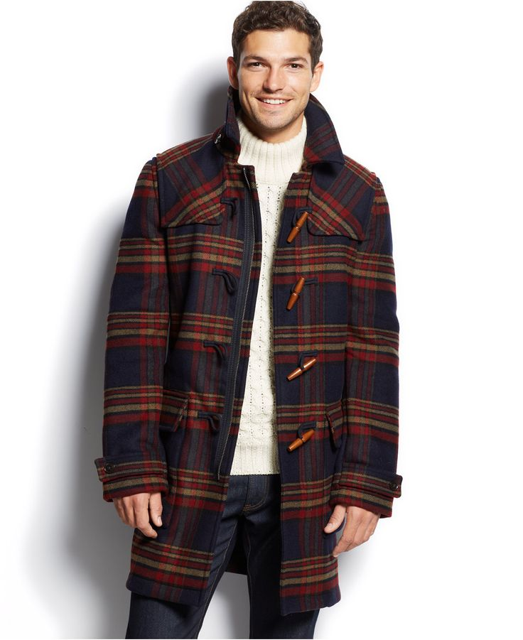 tommy hilfiger special hutton checked duffle coat coats jackets. Black Bedroom Furniture Sets. Home Design Ideas