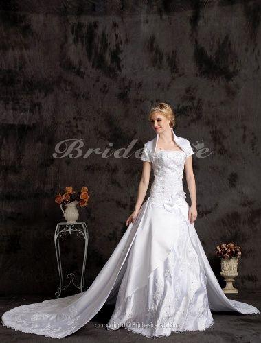 Bridesire - Palloncino Strascico da cattedrale Raso A cuore Abito da sposa With Wrap [514317] - €234.90 : Bridesire