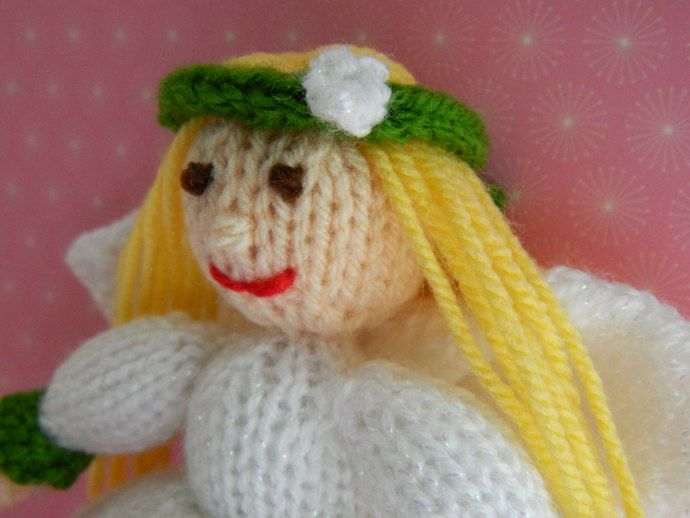 Snowdrop Fairy Knitted Doll - Toy Knitting Pattern by Joanna Marshall, £2.50 GBP