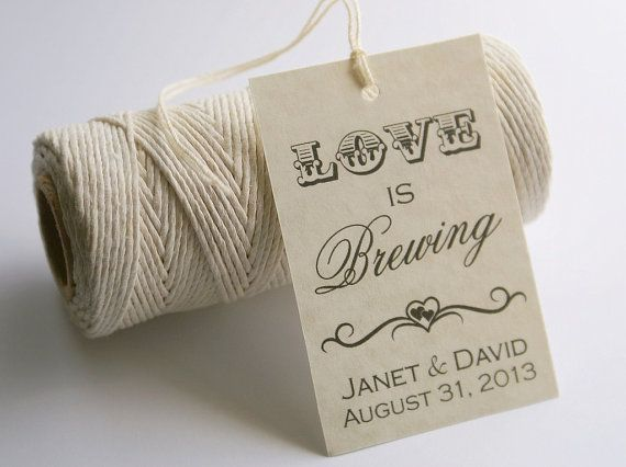 Printable Gift Tags Wedding: Love Is Brewing Favor Tags, Bridal Shower Tea Party Gift