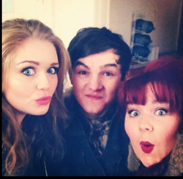 Abby Mavers aka Dynasty Barry Tommy Knight aka Kevin Chalk Rebecca Craven aka Rhiannon Salt @abbyimogen @_TommyLK @BeckyLucie #WaterlooRoad