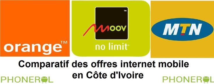 Comparatif des offres internet mobile en Côte d'Ivoire