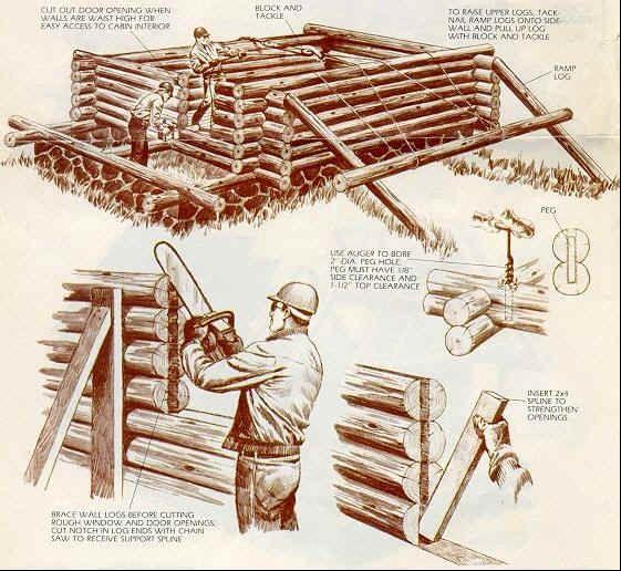 Build a log cabin!