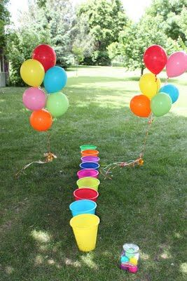 Play doh Birthday Party...toss a ball of play doh into a bucket- game