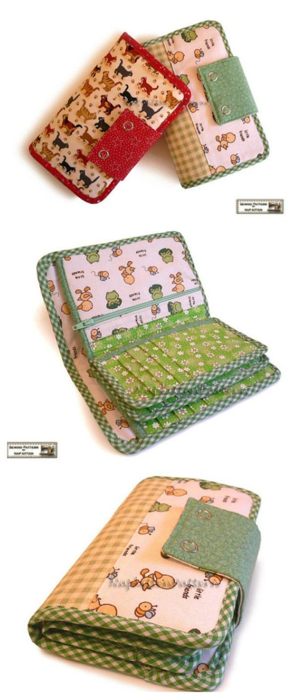 The perfect wallet sewing pattern?  I think so.  This has everything that I need…