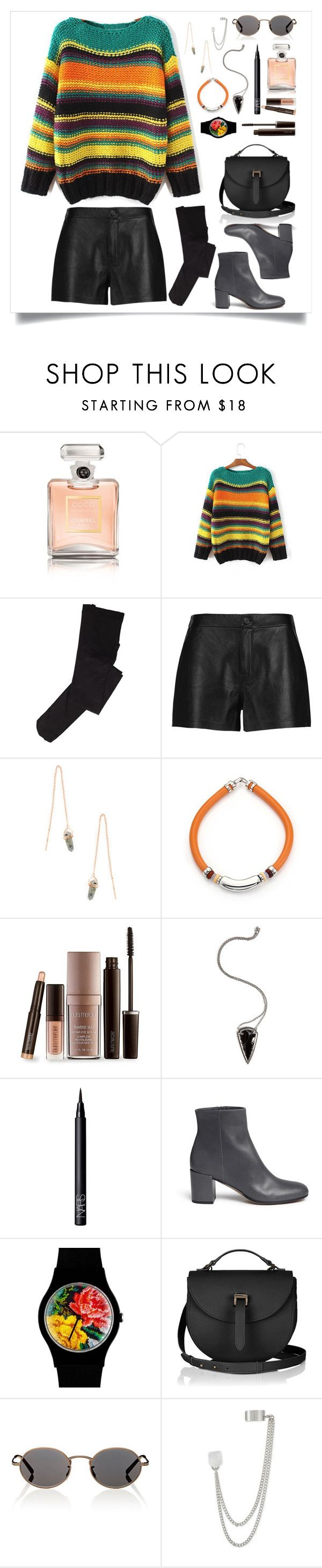 """""""Senza titolo #244"""" by mariaantonietta8 ❤ liked on Polyvore featuring Chanel, J Brand, Shashi, Lizzie Fortunato, Laura Mercier, Pamela Love, NARS Cosmetics, Vince, May28th and Oliver Peoples"""