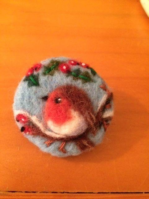 Handmade needle felted brooch | eBay
