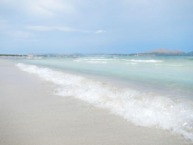 Mallorca, Spain - Playa de Muro is a beautiful six kilometer long Blue Flag, white sandy beach in the north of Majorca. Photo credit instagrammers: @nerudagungoren and @michellegungoren   #beach #beachlife #beachpictures