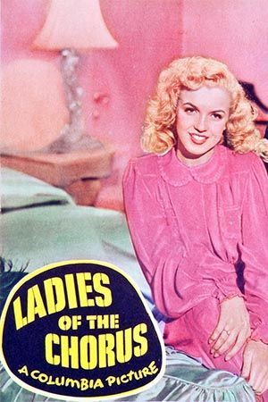 """""""Ladies of the Chorus"""" - Adele Jergens and Marilyn Monroe. US Lobby Card (detail), 1948."""