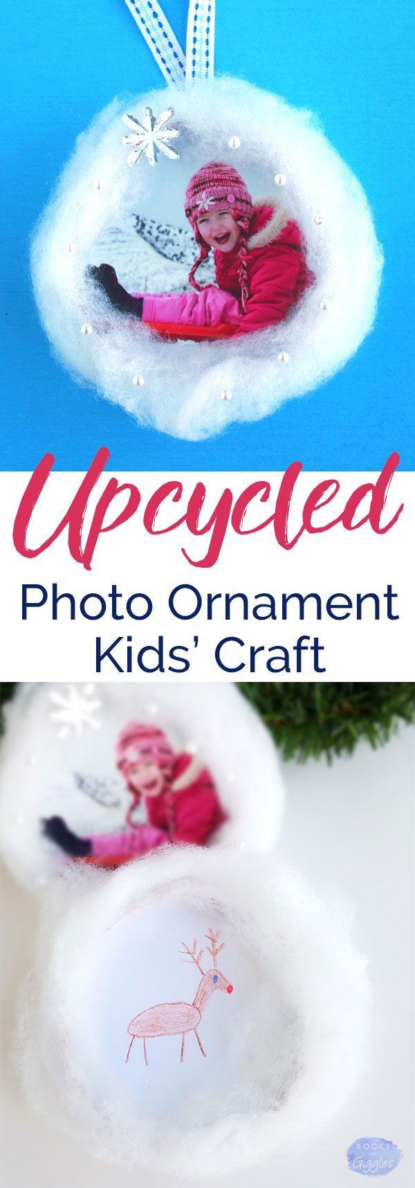 Kids Christmas ornament   How to make a photo ornament with a 3-D snowy scene. A fun kids Christmas craft idea!