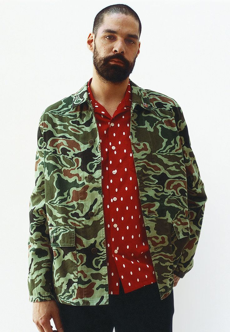 awesome jacket-shirt combo by supreme