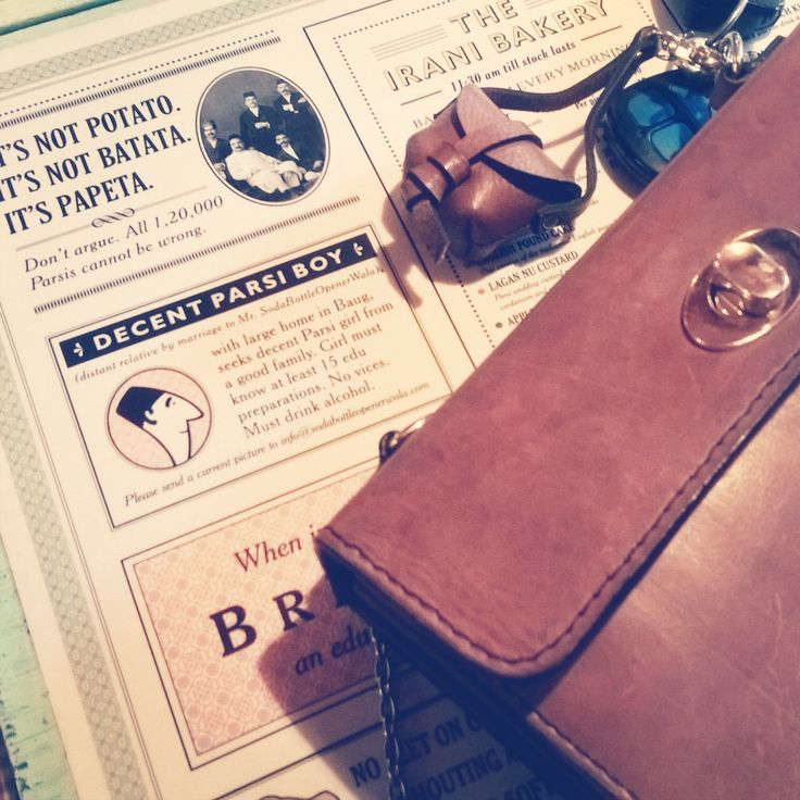 Sunday lunching at #SodaBottleOpenerWala, #MiniStella and I.  Berry pulao, saali chicken, sikenjiben and pav gluttony!  Gotta run now (literally, after that meal). See you sooonestt! #CityGirl #Ellie  #leather #vintage #chiaroscuro #fashion #delhi #handbags #bags