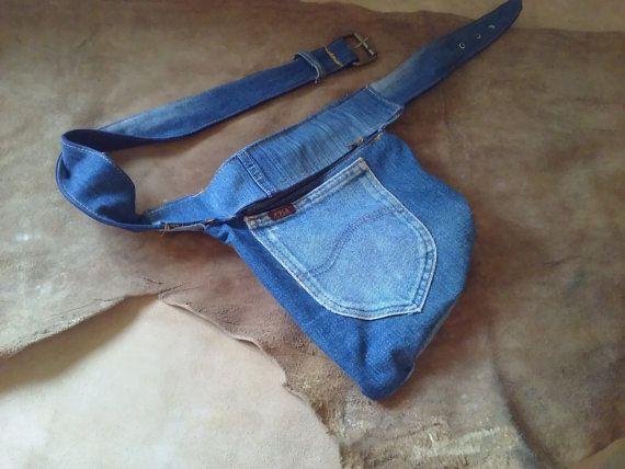 Marsupio jeans con cerniera unisex chiusura di robafattamman