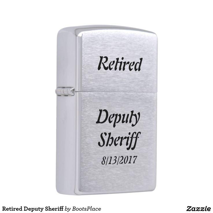 Retired Deputy Sheriff Zippo Lighter