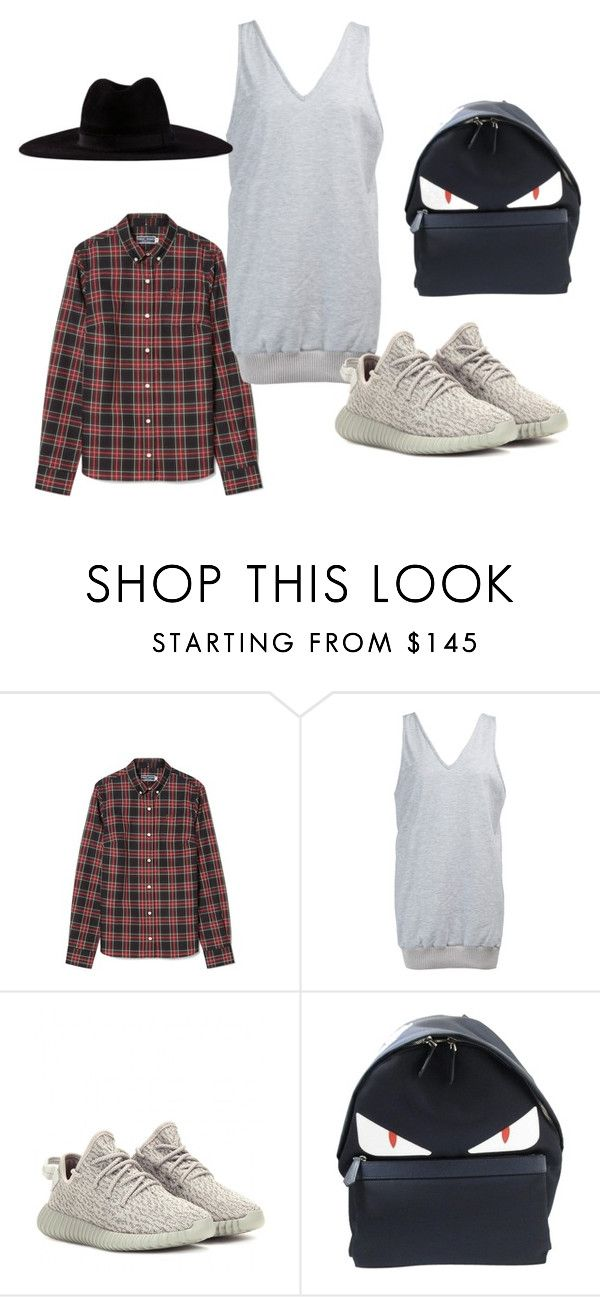 """""""MAVEN RIBBED DRESS"""" by iamamaven on Polyvore featuring adidas Originals, Fendi and Filù Hats"""