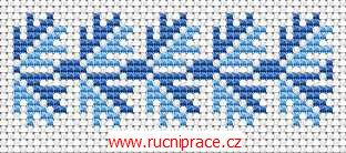 Decorative border, free cross stitch patterns and charts - www.free-cross-stitch.rucniprace.cz